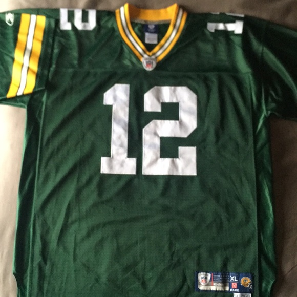 separation shoes 72133 f4cf2 Reebok Green Bay Packers Aaron Rodgers Home Jersey